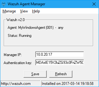 Install Wazuh agent on Windows ‐ Installing Wazuh agent