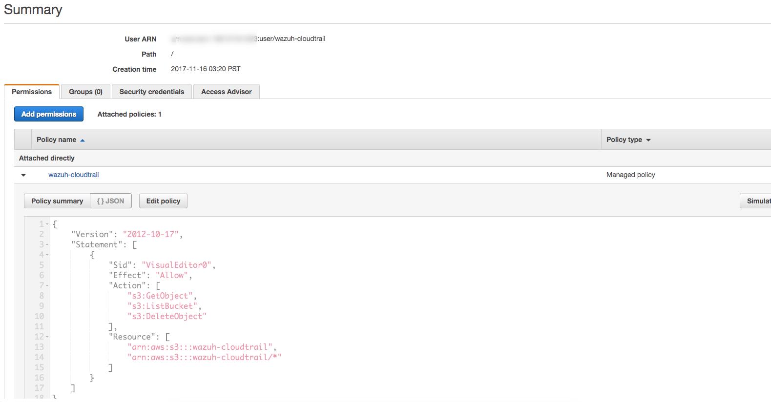 Installation ‐ AWS CloudTrail · Wazuh 3 3 documentation