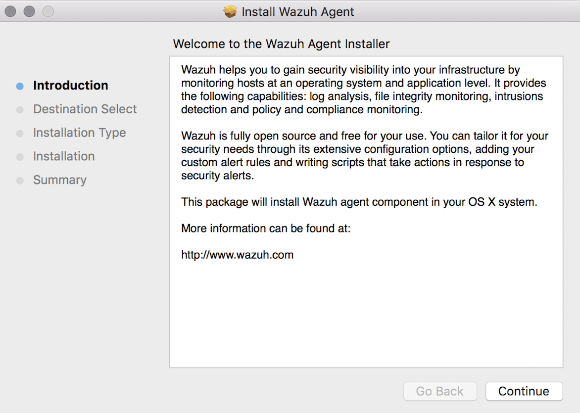 Install Wazuh agent on macOS ‐ Installation from packages